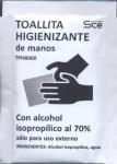 Toallitas Higienizantes Alcohol isopropílico 70%  TPH8060